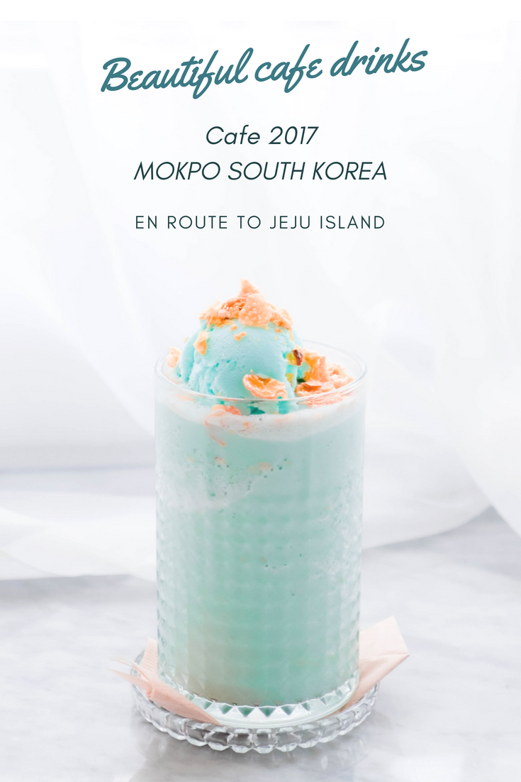 En route to Jeju Island there is a cafe in Mokpo South Korea called cafe 2017. It is a beautifully curated cafe that doubles as a hair salon. Here you will find some of the tastiest and most beautiful drinks in South Korea.