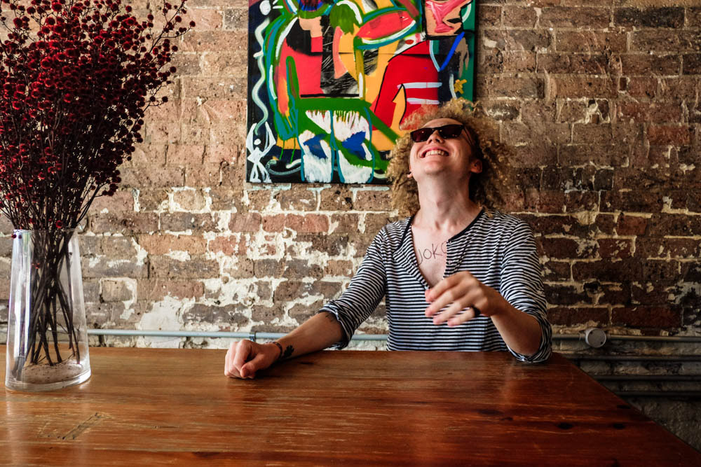 Portrait of Joko Art at Reverends Fine Coffe in Brisbane