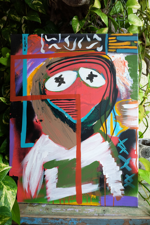 Painting by Joko Art at Reverends Fine Coffee in Brisbane