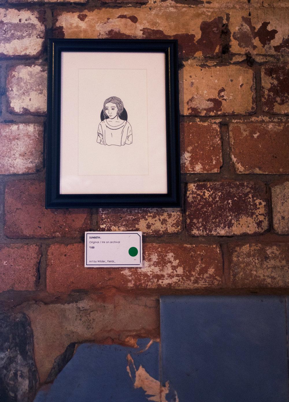 Illustration by Wilderfields at Reverends Fine coffee in Brisbane