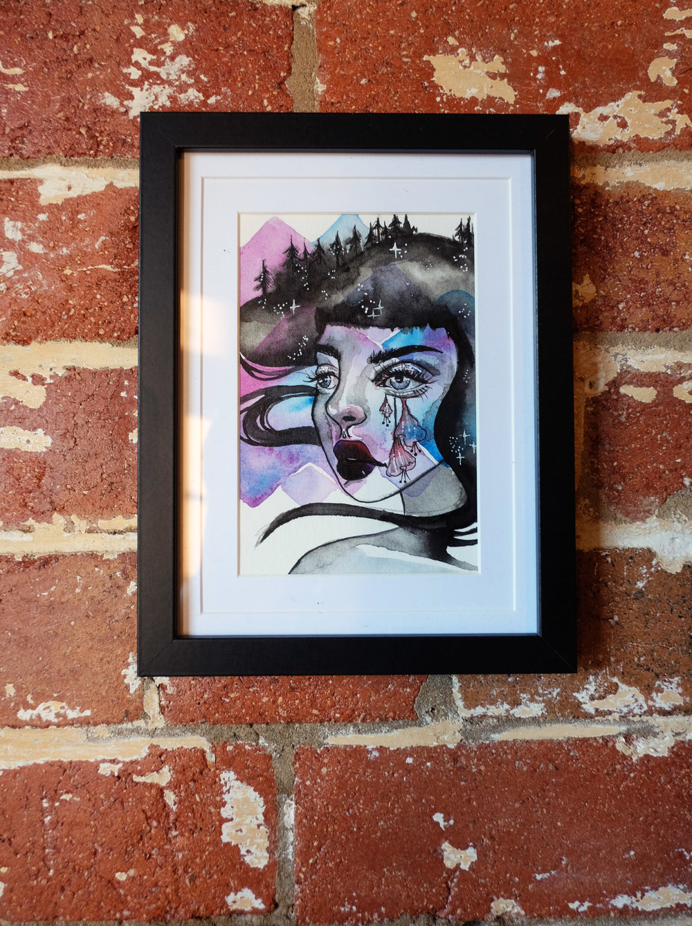 Watercolour painting by Jesamie Floss at Reverends Fine Coffee