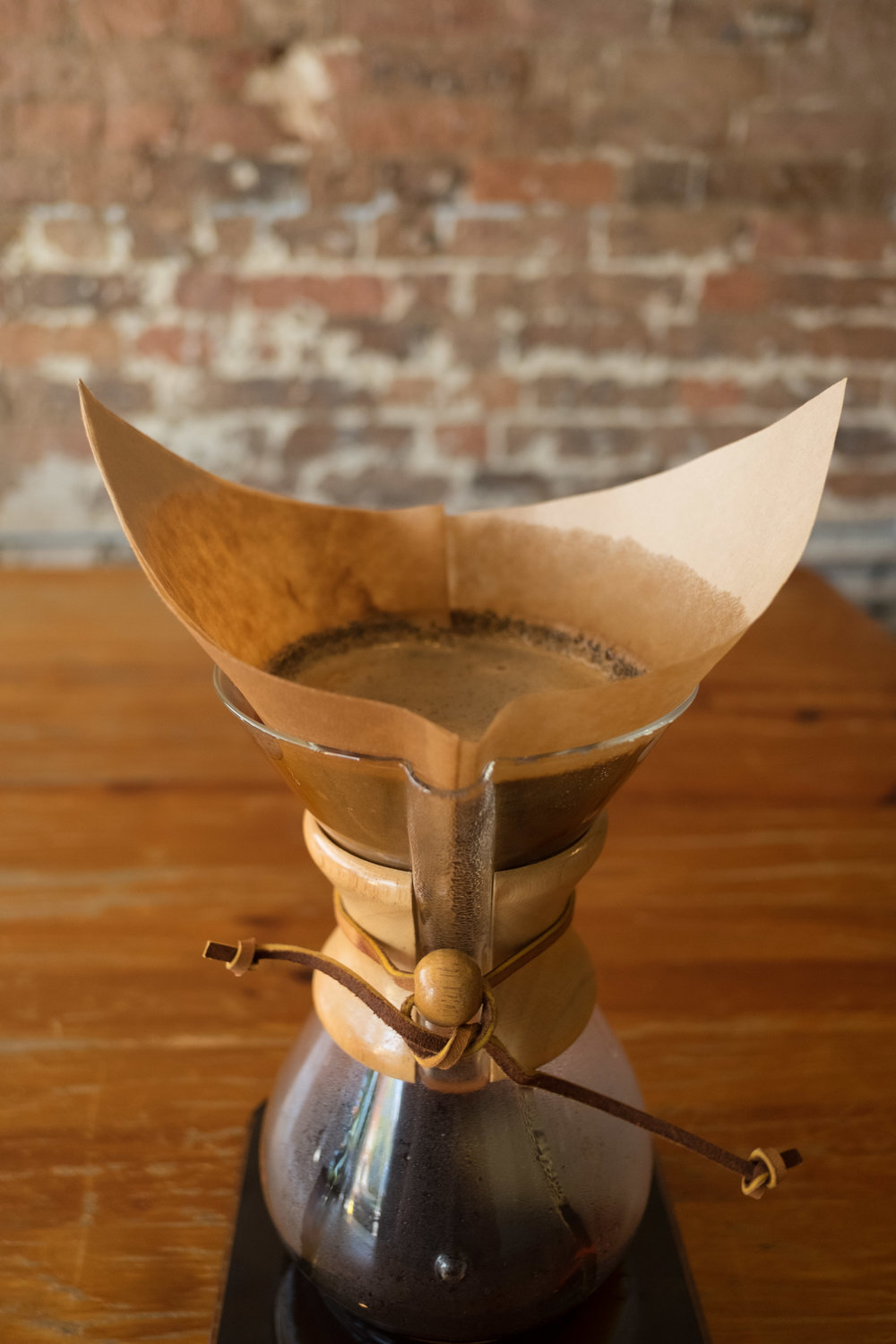 Brewing Chemex at home