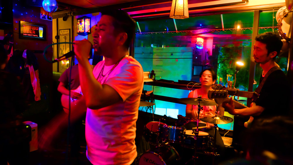SANMOJI band playing at the Wexley in Kobe