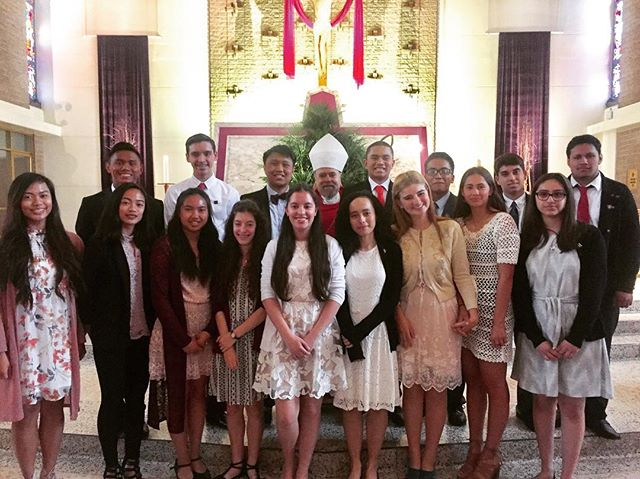 Congratulations to the newly confirmed young men and women of our parish! The Core Team is so proud of all of you to have made it this far in your faith journey. Now go out and make chaos! ⛪️🙏🏽✨✨ #OMGCYouth #Confirmation