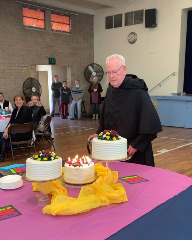 Fr. Jim, we wish you an amazing 80th birthday, and a happy retirement!!! On behalf of other ministries here, thank you SO much for everything you've done for Our Mother of Good Counsel, this community would not be the same without you 😭😔🎉🎊🕺🏼