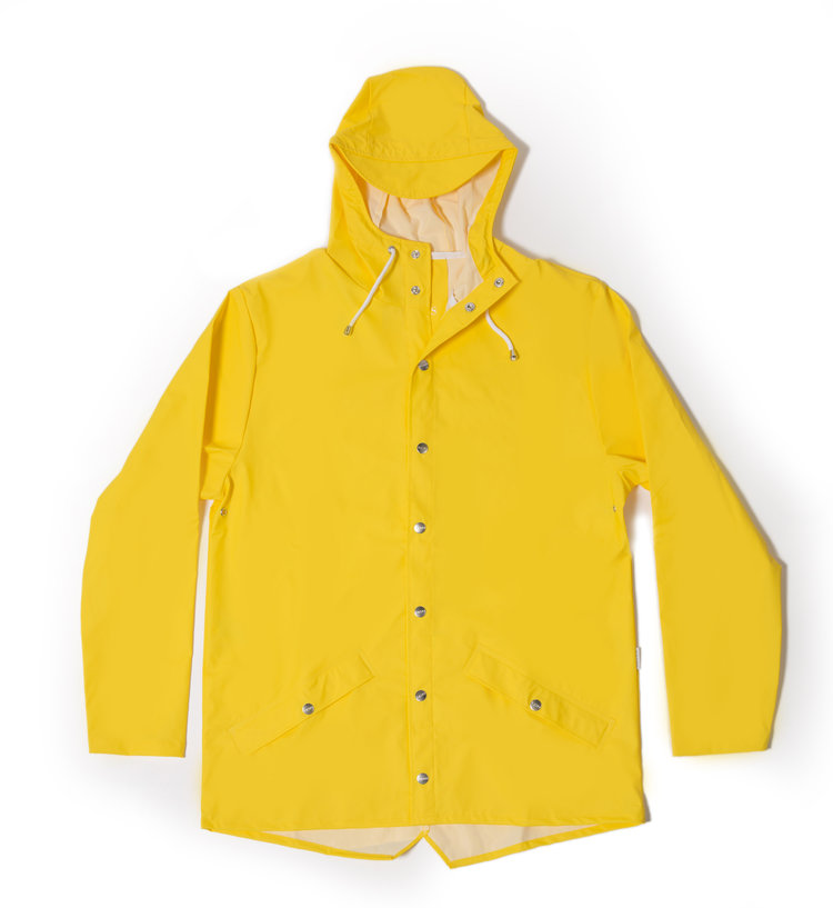 Rains' waterproof jacket - Yellow — Plain Bear