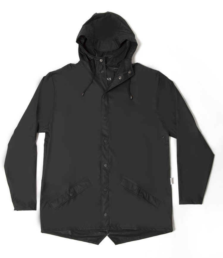 Rains' waterproof jacket - black — Plain Bear