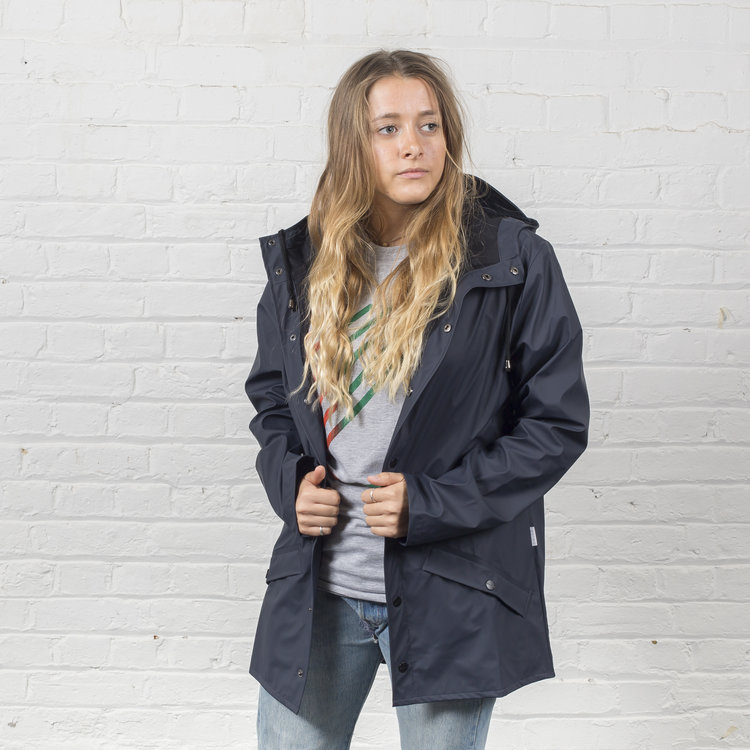 57ae5228 Rains' waterproof jacket - navy — Plain Bear