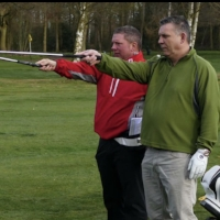 Rick Kirk  Caddie Steve Brotherhood  The Wiltshire G.C  Handicap before experience 16