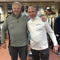 Neil Dixon  Caddie Mick Doran  Farnham GC  Handicap before experience 12