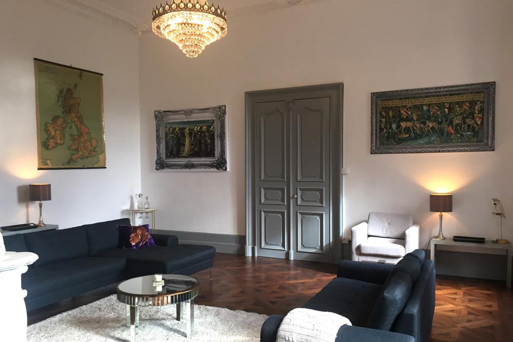 French Chateau to rent with large Drawing Room