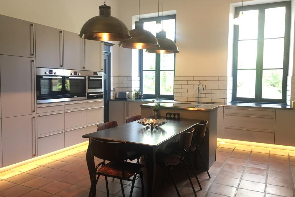 Chateau with stunning modern kitchen