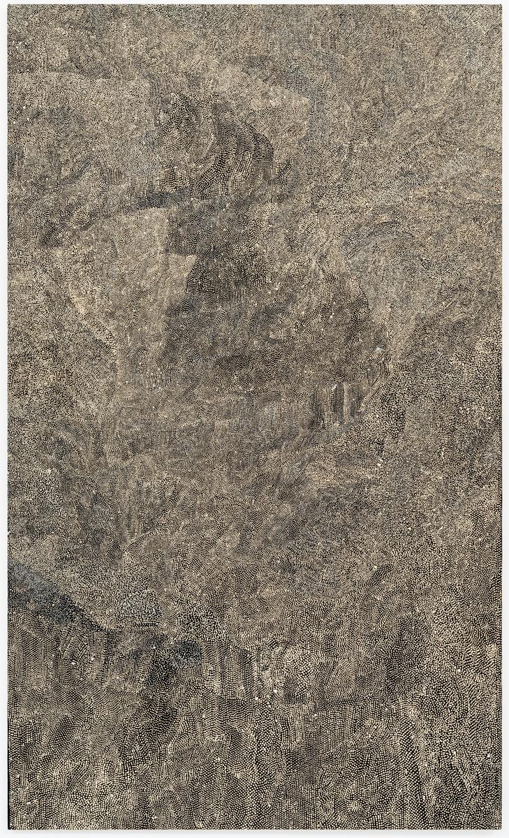 Eileen Mbitjana, Wild Plum, Acrylic on linen, 150 x 90 cm, 2015
