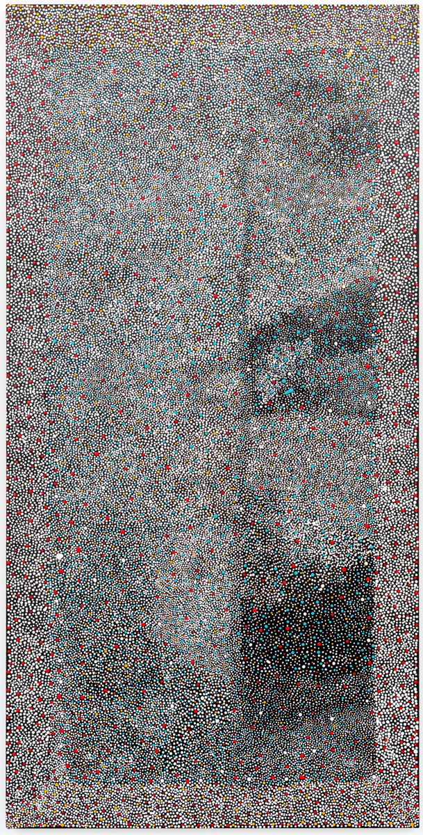 Elizabeth Mbitjana, Wild Plum,Acrylic on linen, 121 x 60 cm, 2011
