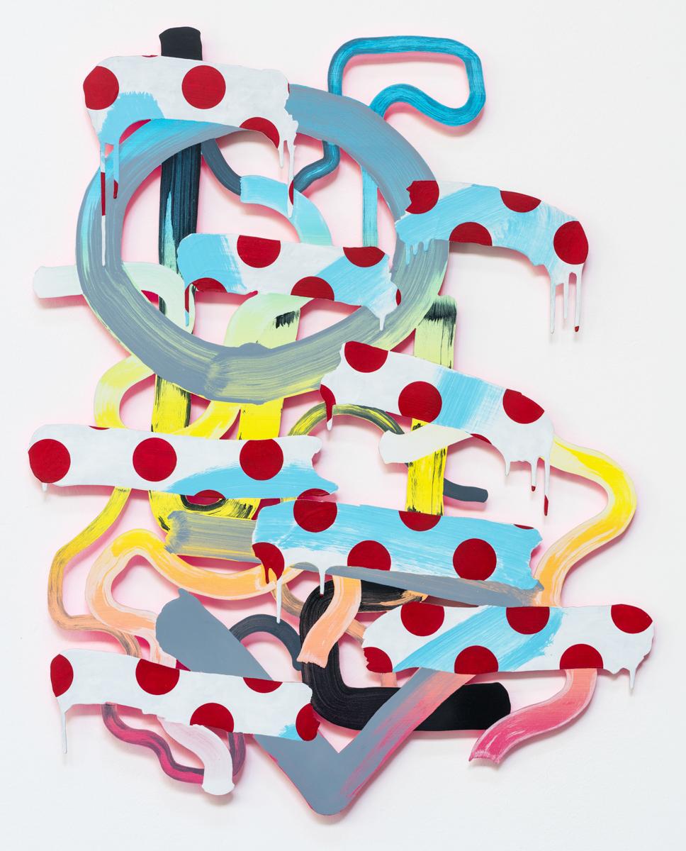 Fulgent Relief, 100 x 80 cm, acrylic on aluminium, 2016