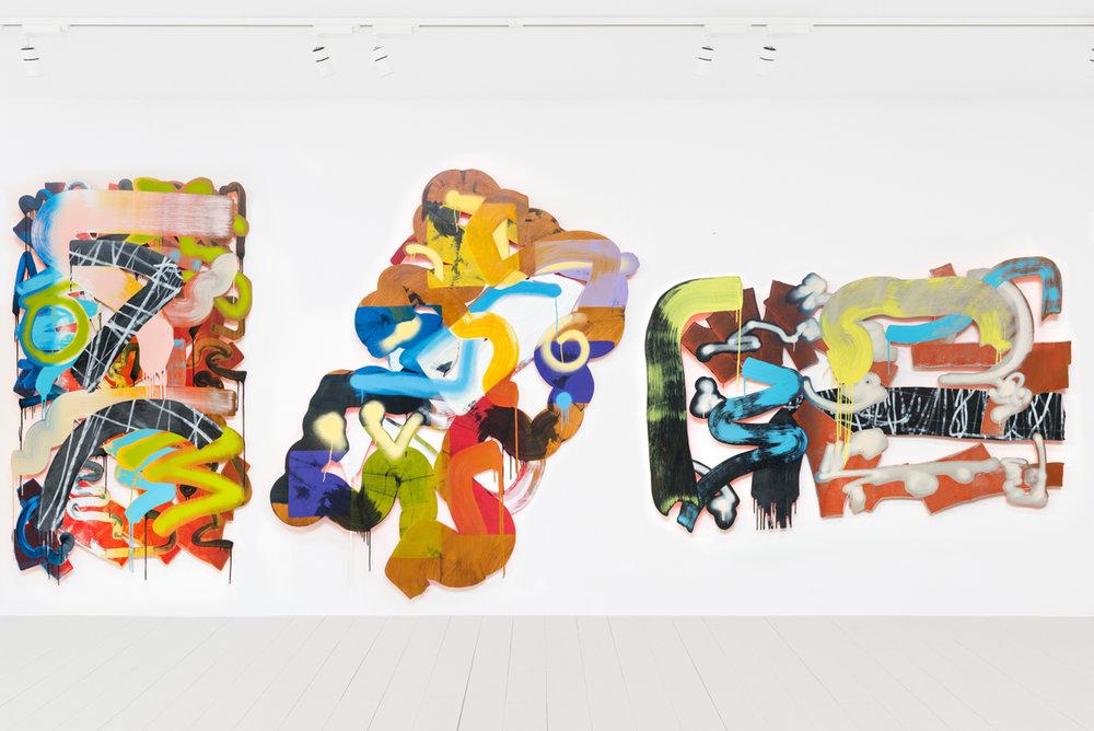 The Dog of Flanders, 2017  Acrylic on aluminium, 240 x 550 cm