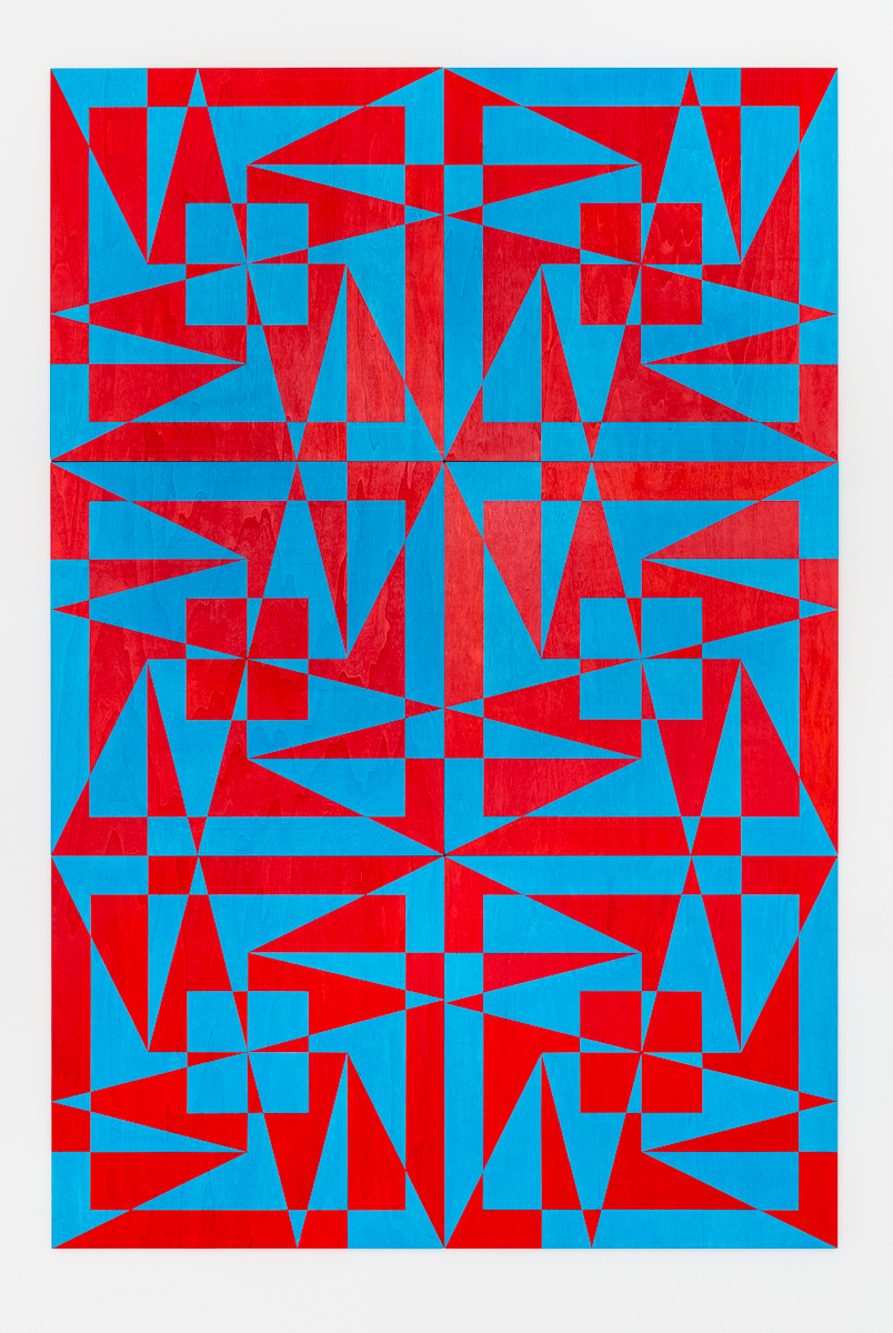 Untitled (red/blue), 2017