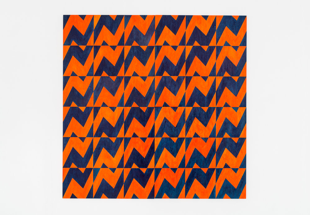 Untitled (orange/blue), 2017