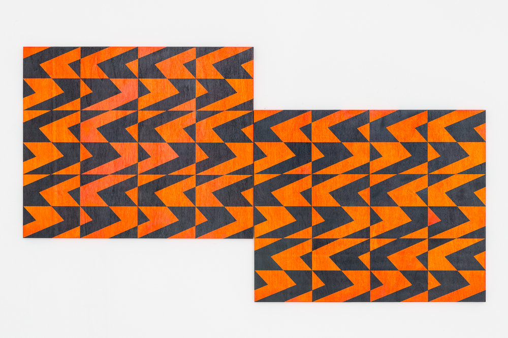 Untitled (orange/p-grey), 2018