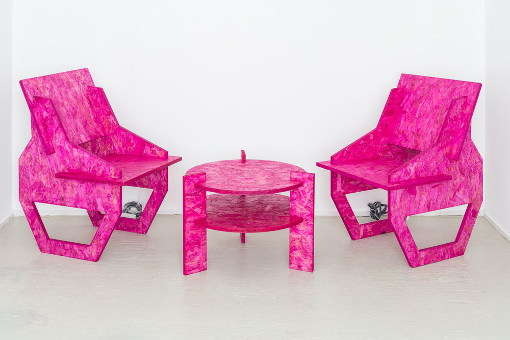 Studio Table and Chair (Pink)