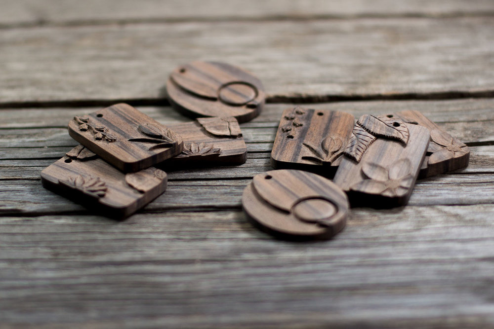 New Hand Carved Wood Pendant Collections
