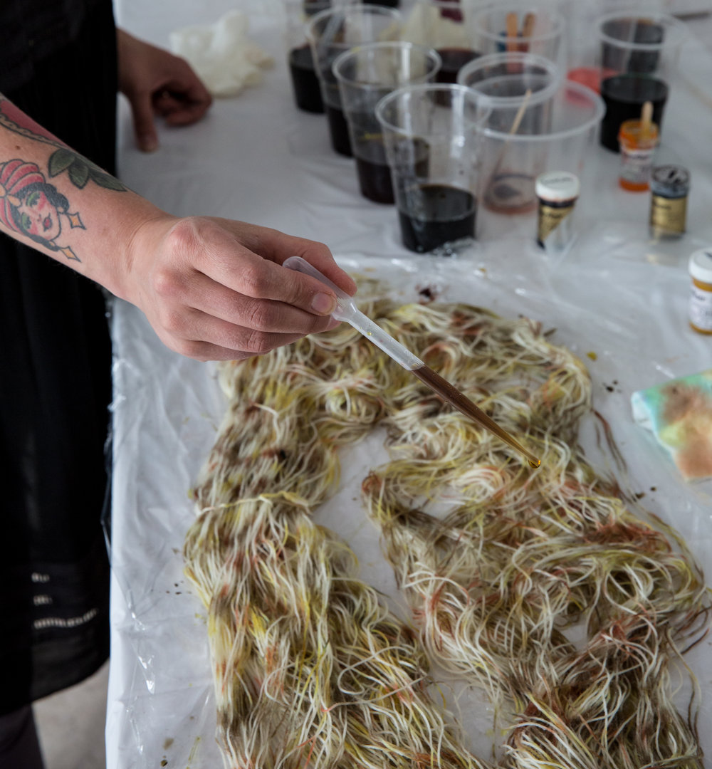 @dean.hearne  learning to dye wool.