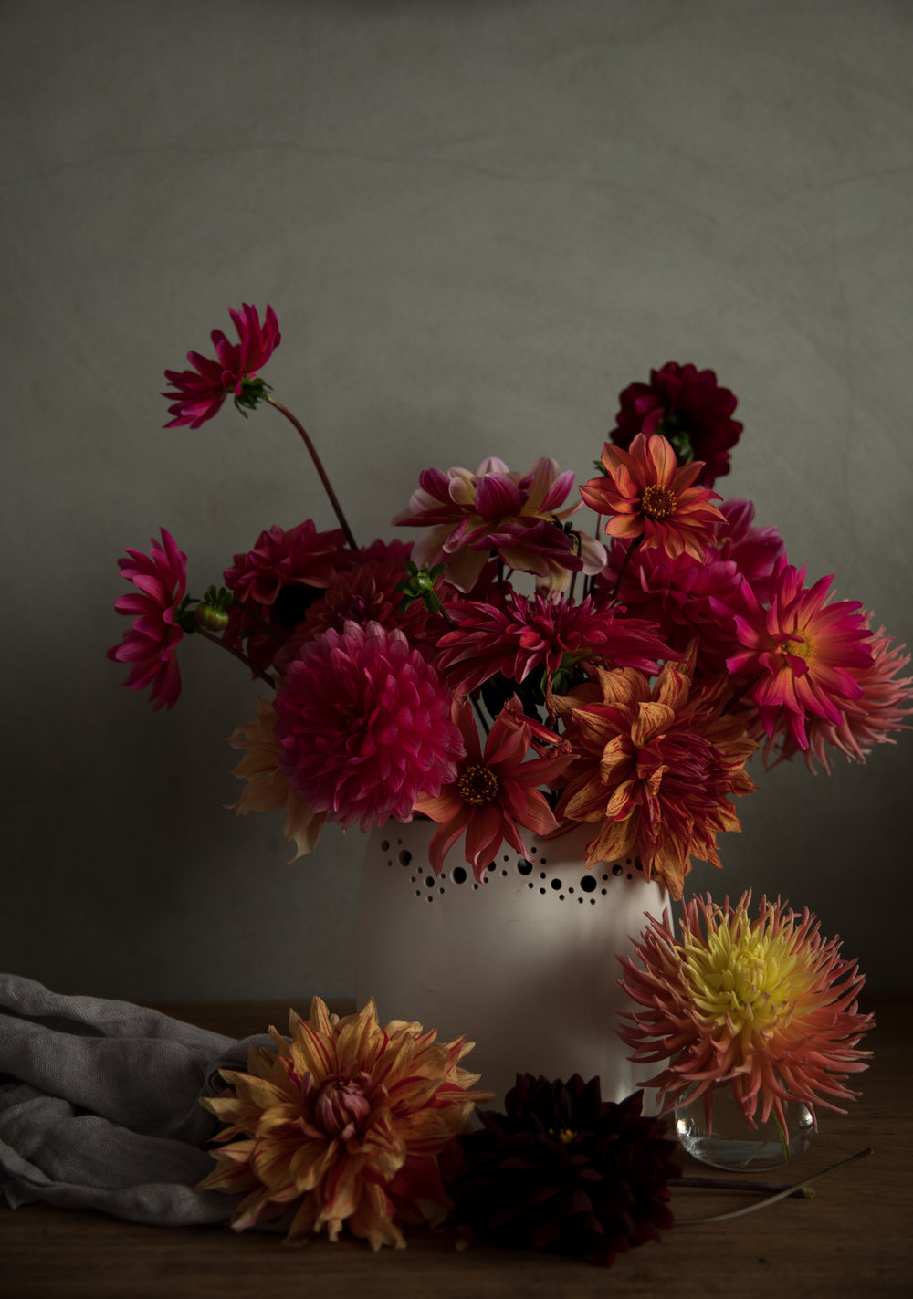 Dahlias from our astounding flower garden.