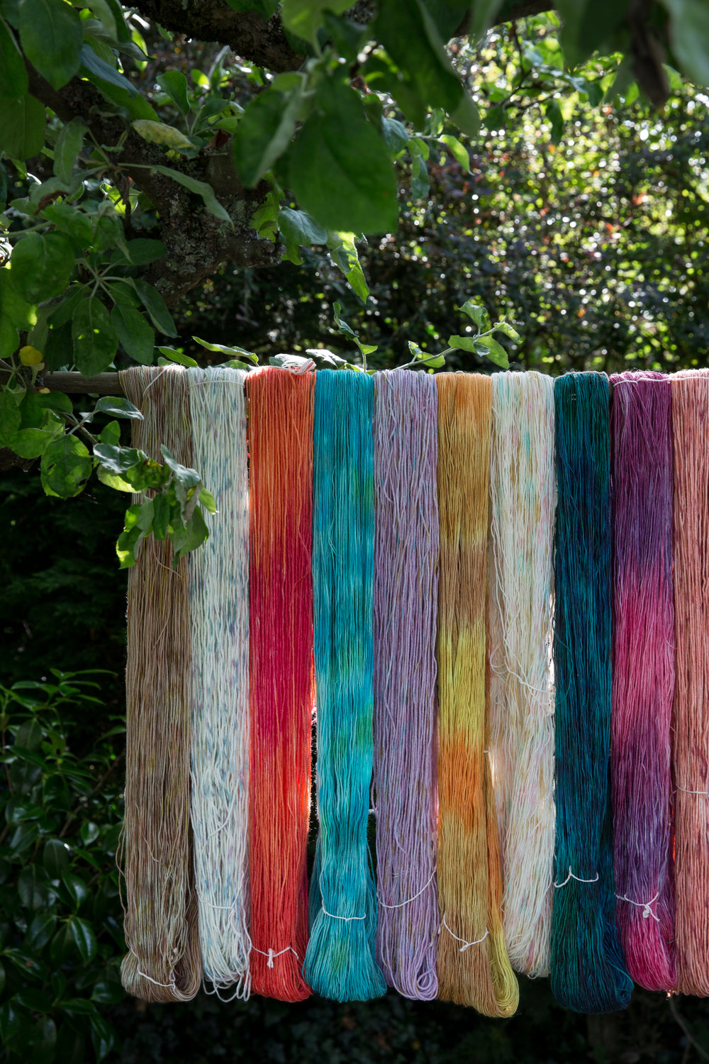 Yarn dyed at a previous retreat.