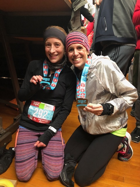 All smiles post race, or maybe our faces were just frozen that way!