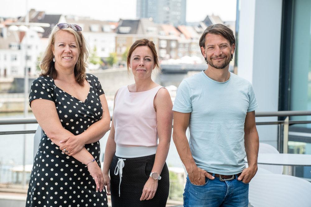 Bianca Vaessen, projectleider; Kelly Esten, sociaal team centrum; Piet Hauser, sociaal team Limmel-Nazareth