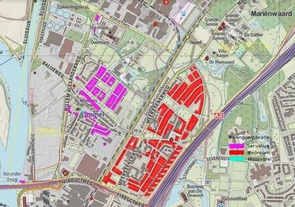 Overzicht huurwoningen wijk Limmel en hun coöperaties