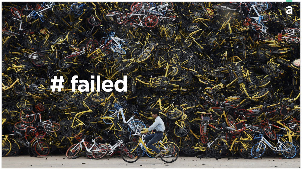 Bike-sharing fail in China. Image source: Reuters.
