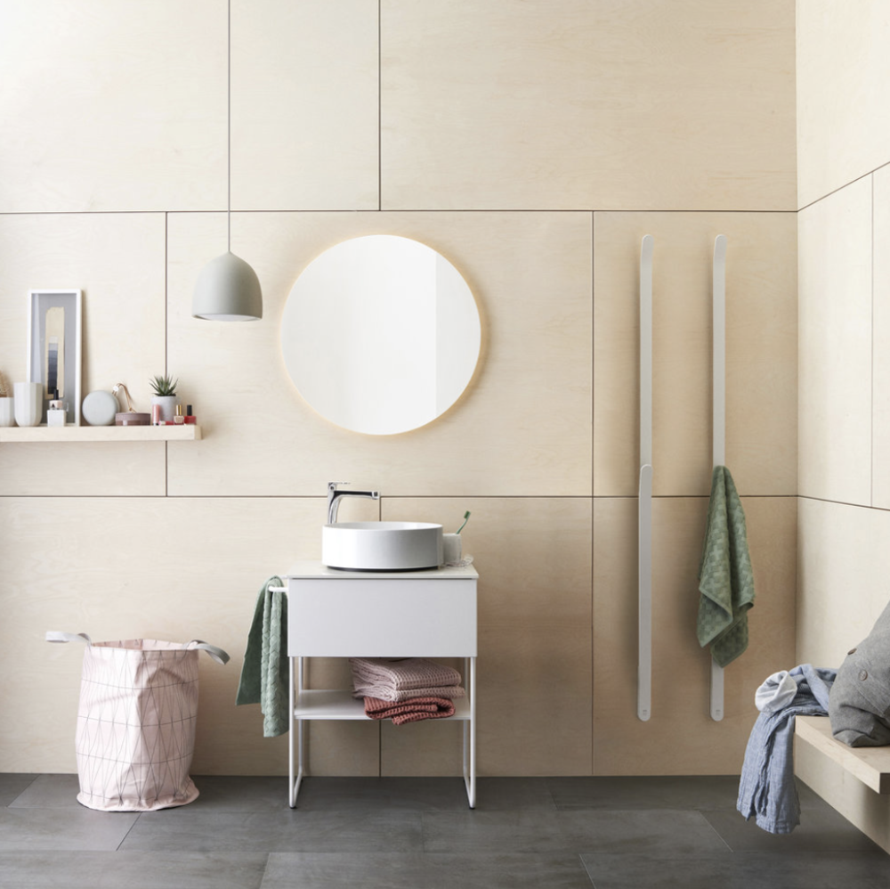 Iconic Nordic Rooms  A towel dryer worth showing off  Full service