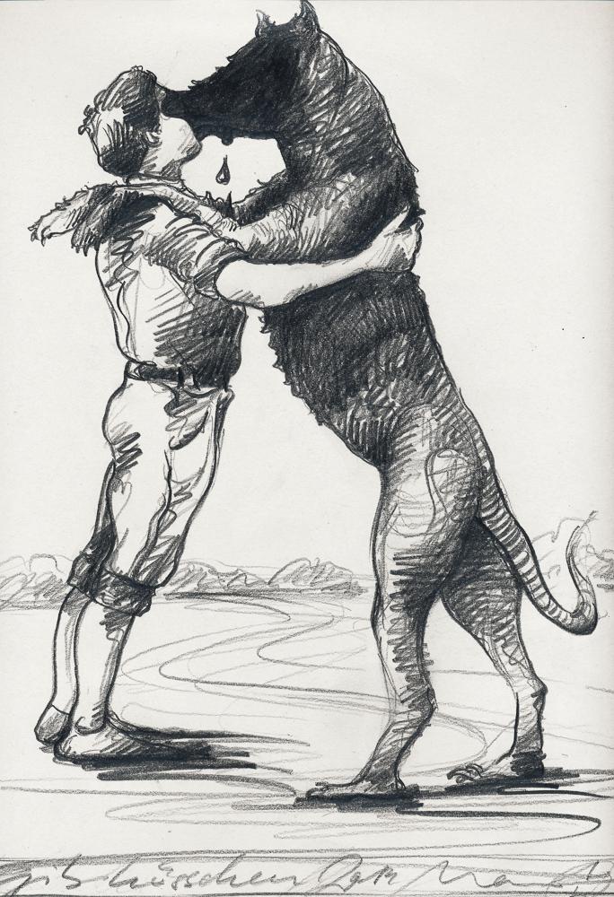 Guter Hund: graphite/paper, 30 x 20 cm, 2014