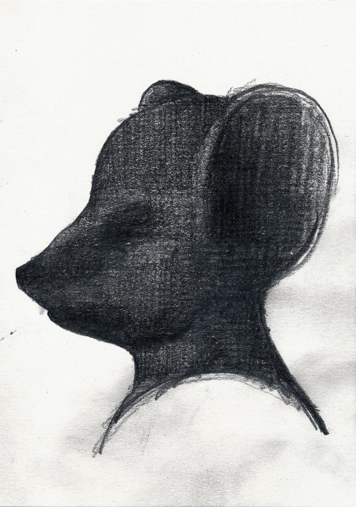 mask: graphite/paper, 2014