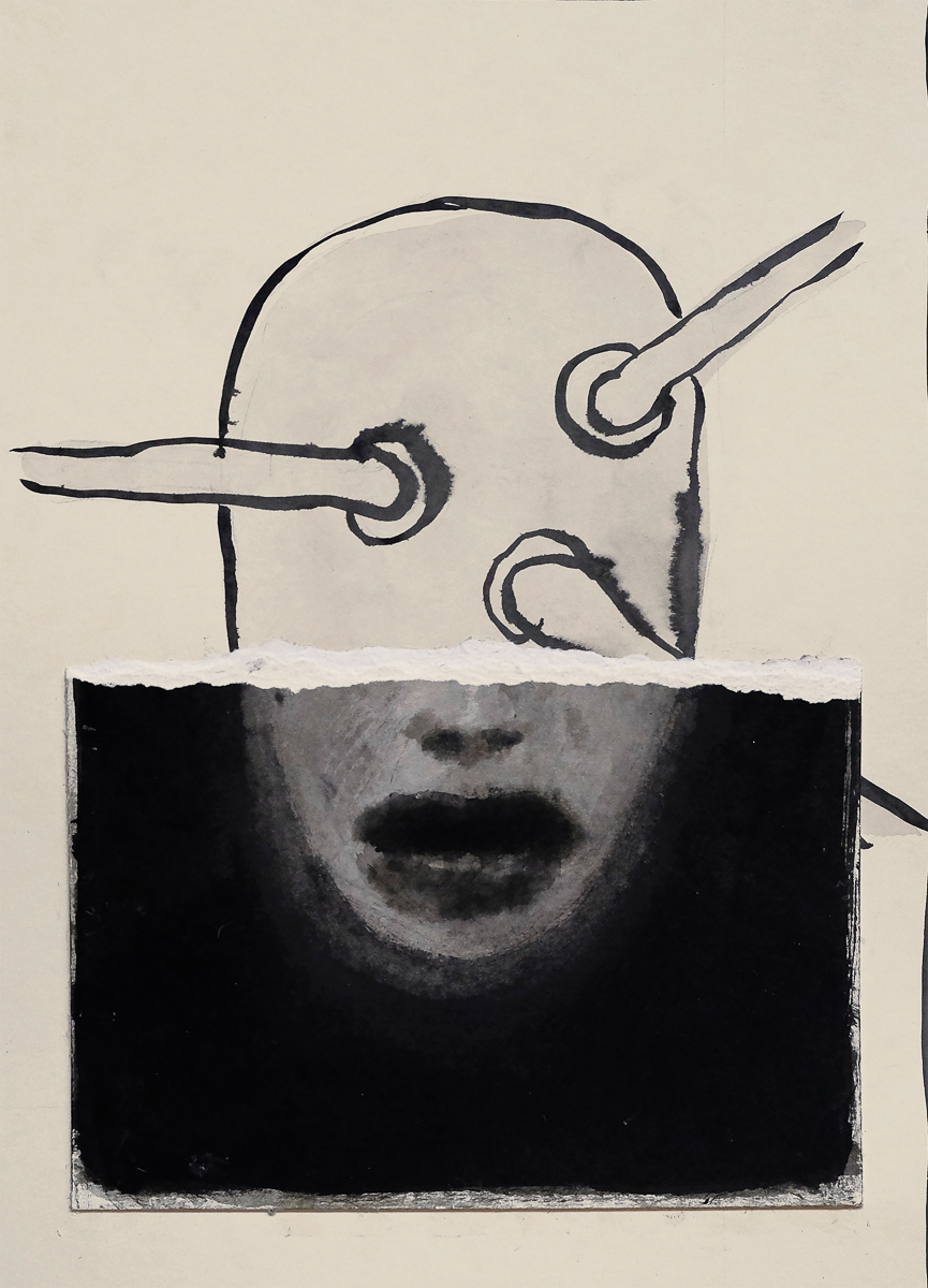parasite, ink/paper, 35x25 cm, 2016