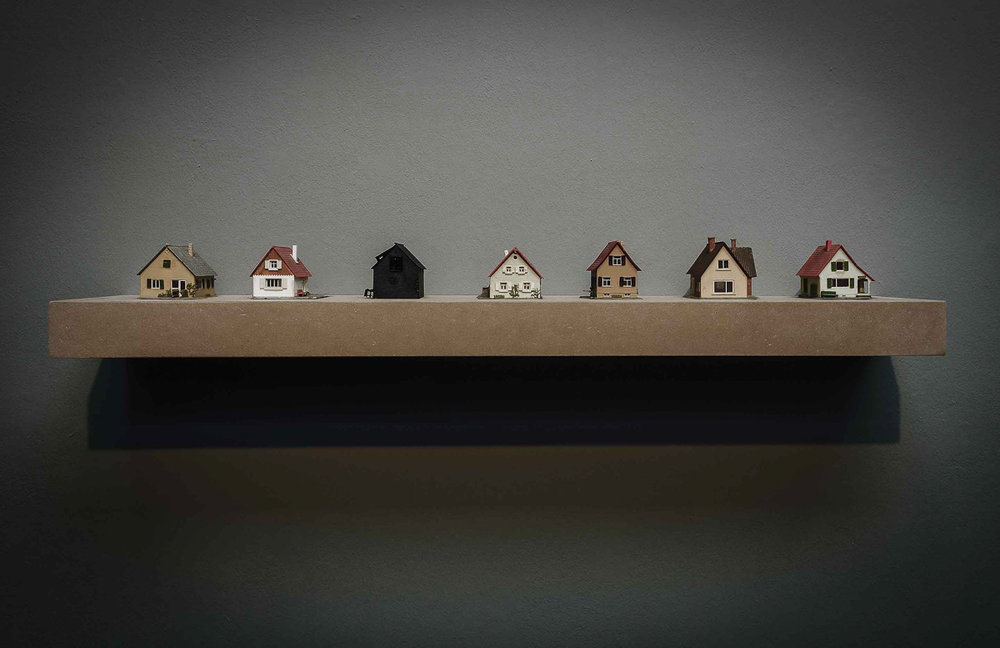 the neighborhood: plastic, wood, 120 x15 x 6 cm 2016