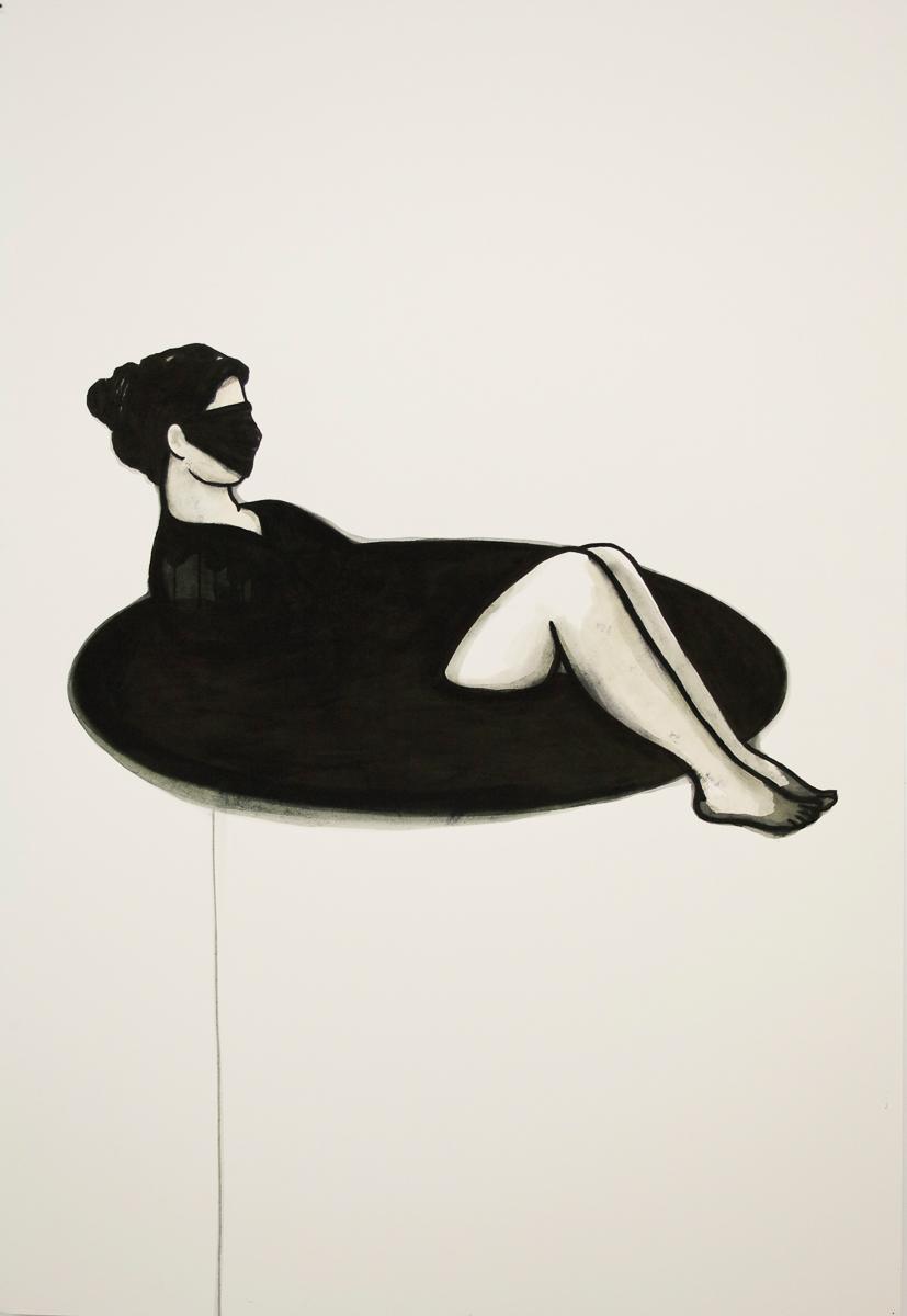 badgirl: ink/paper, 170 x 120 cm, 2011
