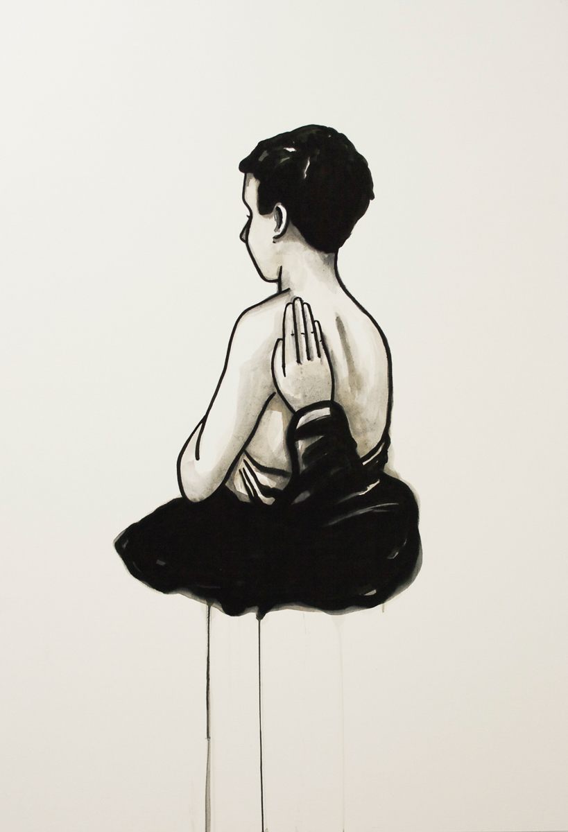 Wolke 2: ink/paper, 170 x 120 cm, 2011
