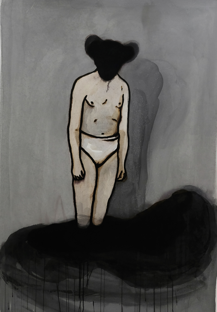 M.: ink/paper, 170 x 120 cm, 2011