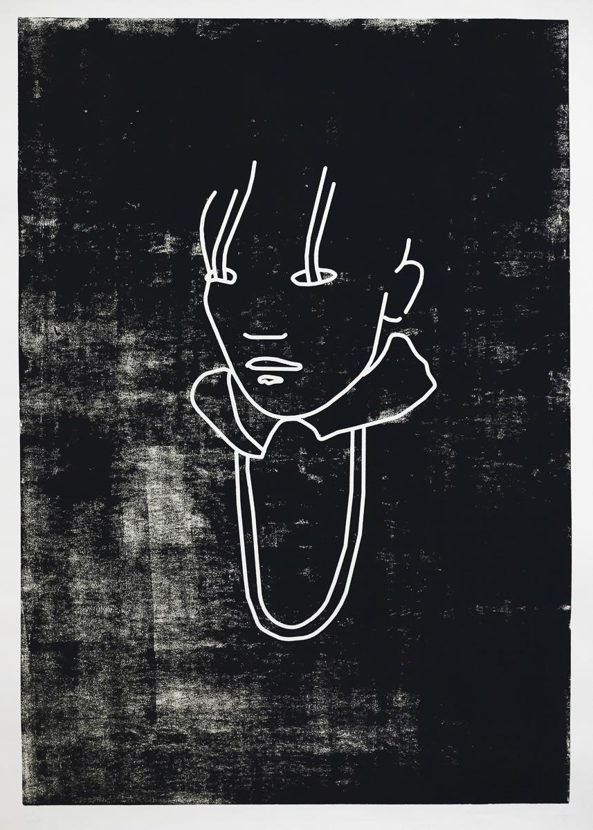 eyewear: woodcut/paper, 160 x 120 cm, 2008
