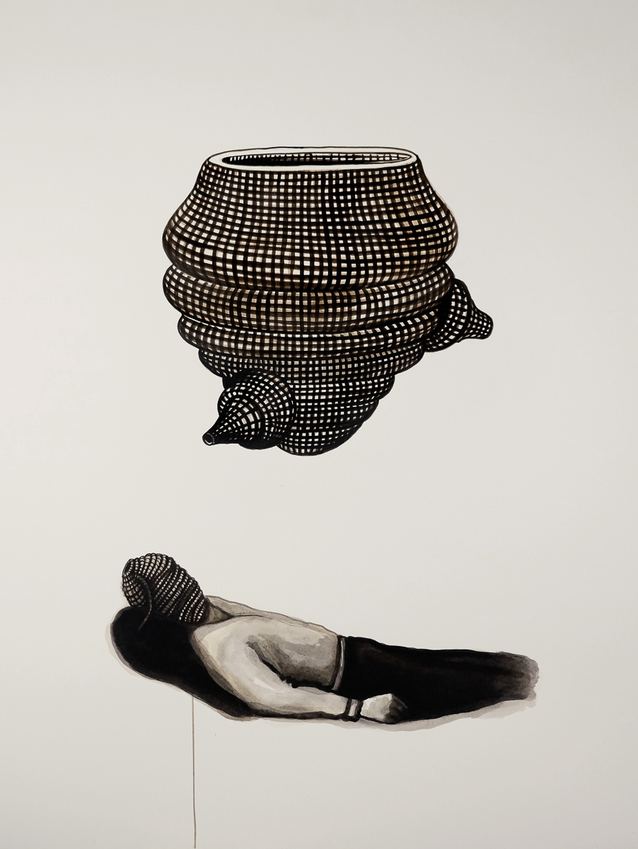 Virus: ink/paper, 170 x 120 cm, 2011
