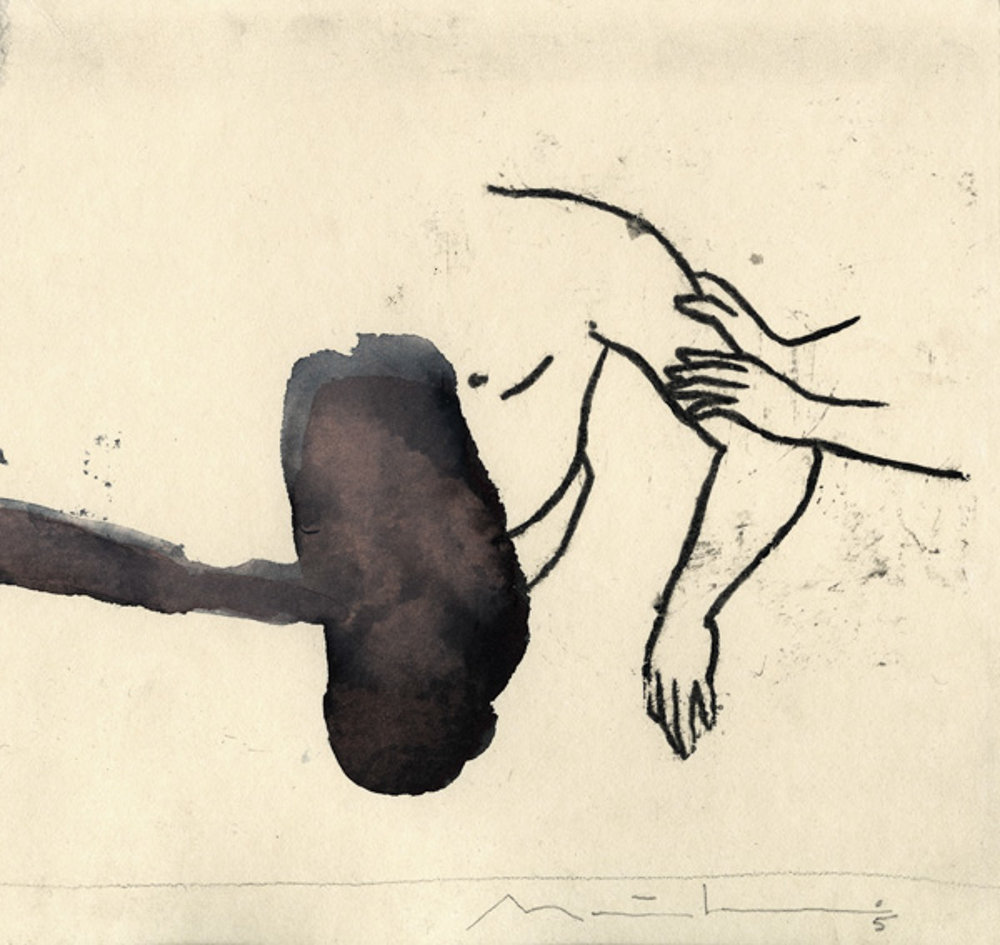 Wolke: ink/paper, 25 x 30 cm, 2005