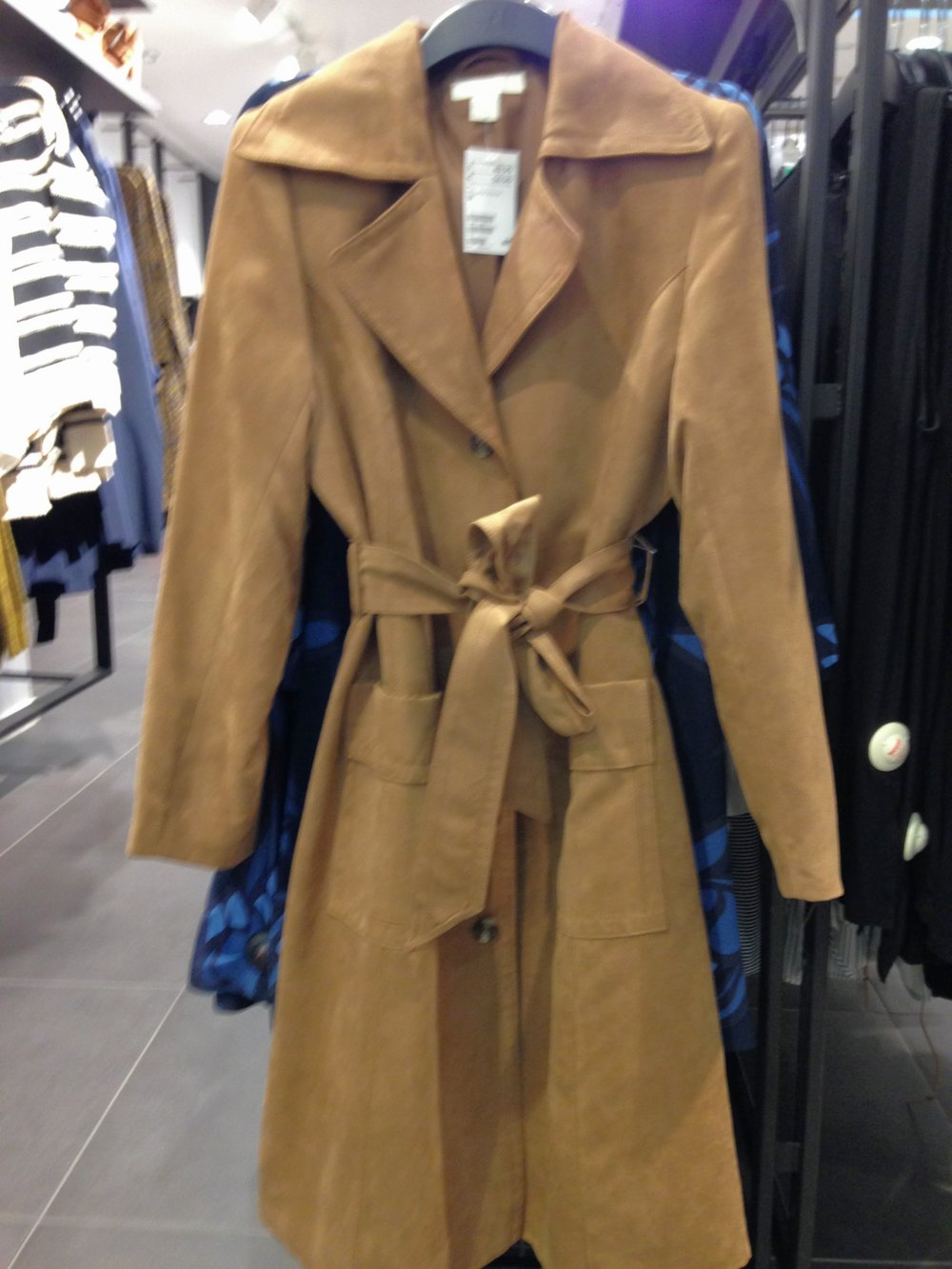 H&M suede trench