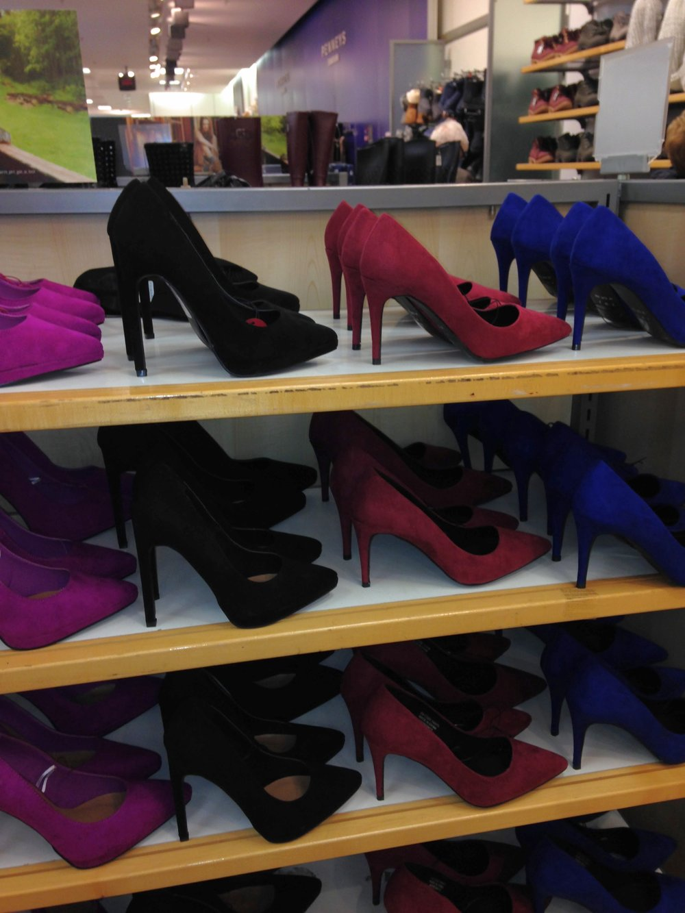 Selection of colourful court shoes from €11.