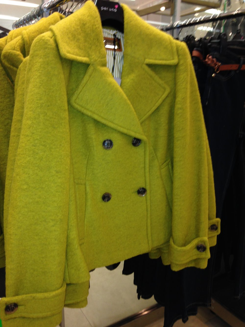 Lime Green wool jacket from M&S. Great colour! €120.00