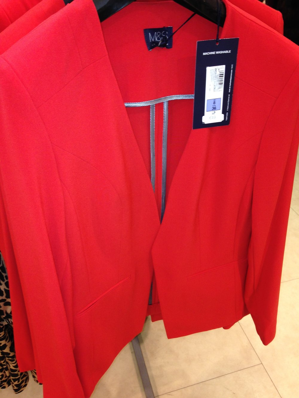 Vibrant Orange jacket also M&S. Great Buy at €49.00