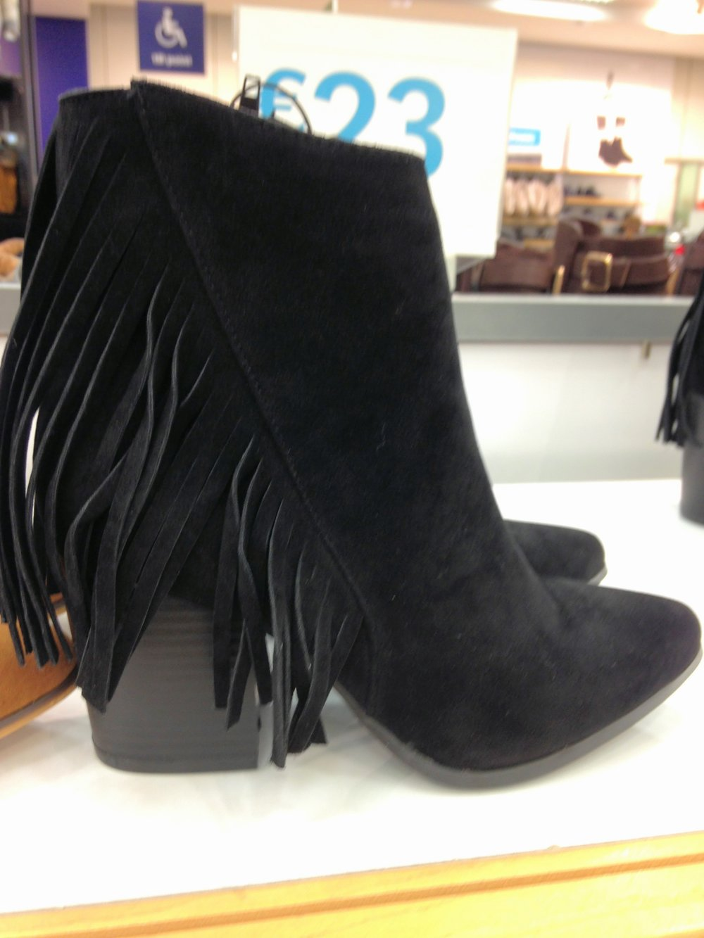 Pennys fringe boot blk