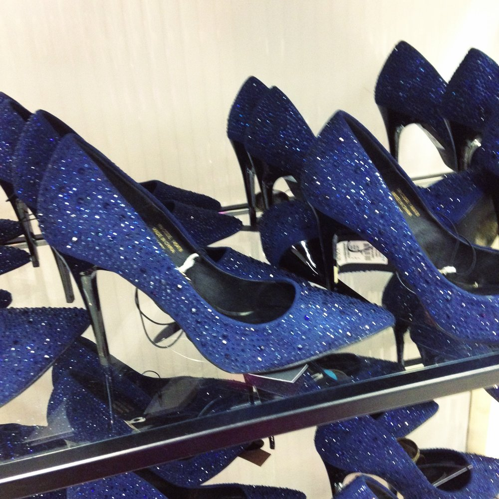 Beautiful embellished blue courts from
