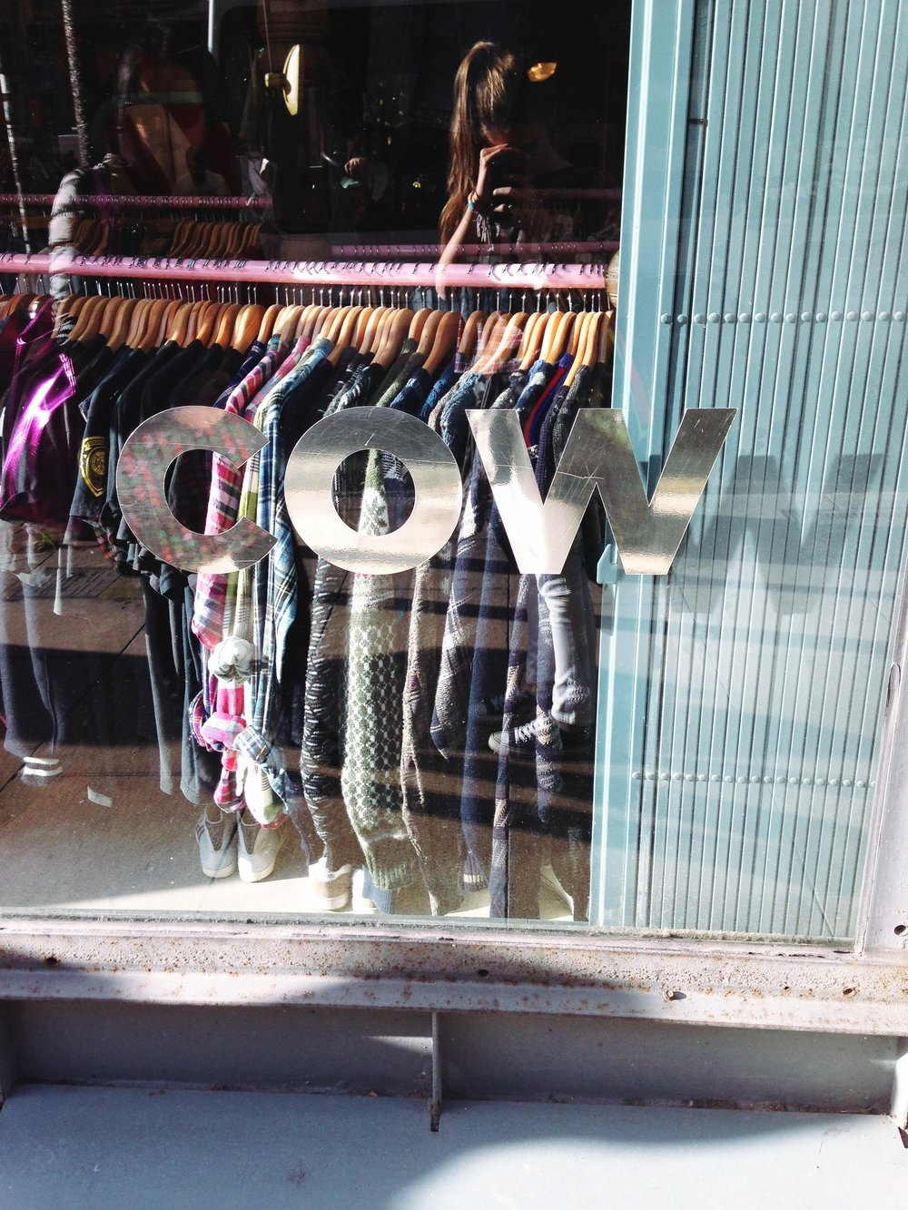 Cow! Vintage shop Manchester.